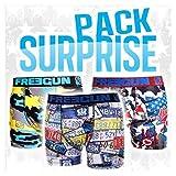 Boxer Freegun fantaise- Assortiments en pack selon modèles disponibles- (L, Pack de 5 boxers Homme)