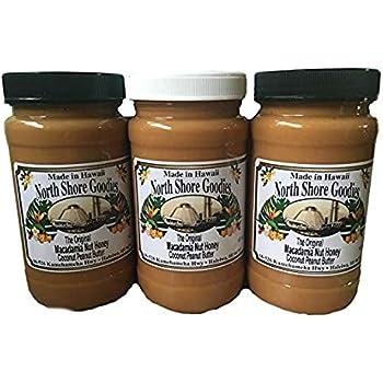Hawaiian North Shore Goodies Macadamia Nut Coconut Honey Peanut Butter Gift Box
