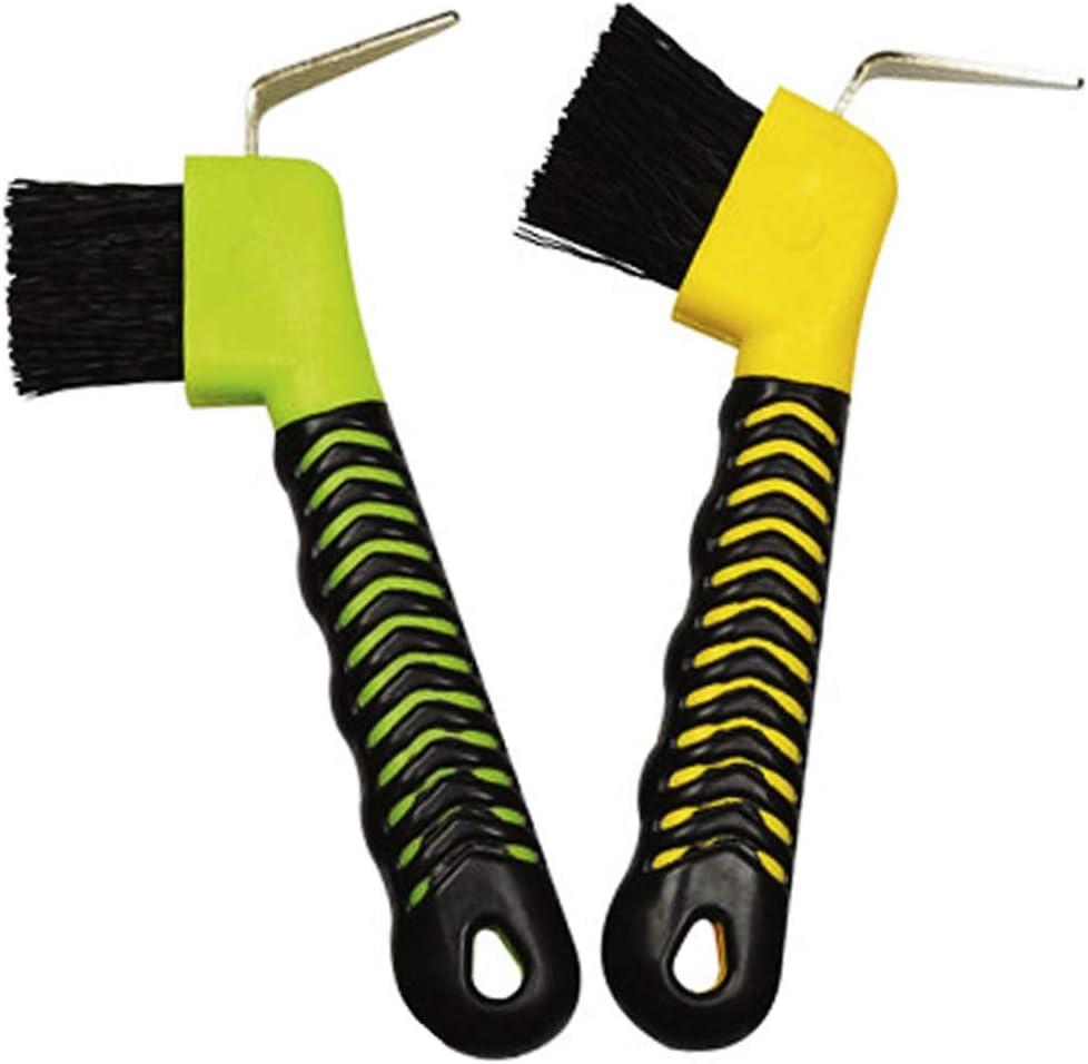 Weilan 2PCS Horse Hoof Pick Brush with Deluxe Soft GripTouch Rubber Handle,Partrade Hoofpick,Random Colors : Pet Supplies
