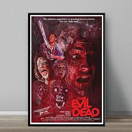 5D DIY diamante pintura The Evil Dead clásico película de terror arte pintura seda lienzo cartel pared decoración del hogar sin marco-40x50cm