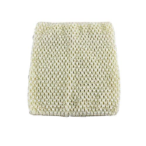 Wennikids Large Crochet Tutu Tops Girls Baby Tube Top Match Tutu Skirt Pettiskirt (White)