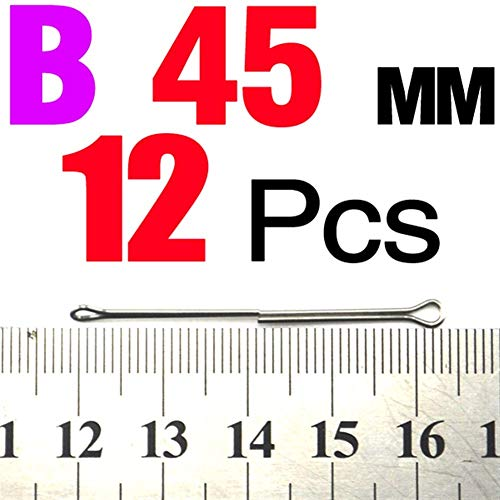 Mit 12st Fliegenbinden Intruder Articulated Fliegen Shanks 55mm 45mm 25mm 20mm 15mm Edelstahl Seite (Color : 12Pcs 45MM)