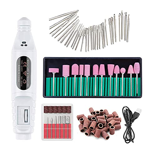 Kit de Uñas Aparato eléctrico para manicura Máquina de uñas Brocas bits Removedor de Gel Arte de uñas Arte de Lija Herramientas de Archivo 48PCS Pedicure Mill Driller Cortador Kit de Manicura