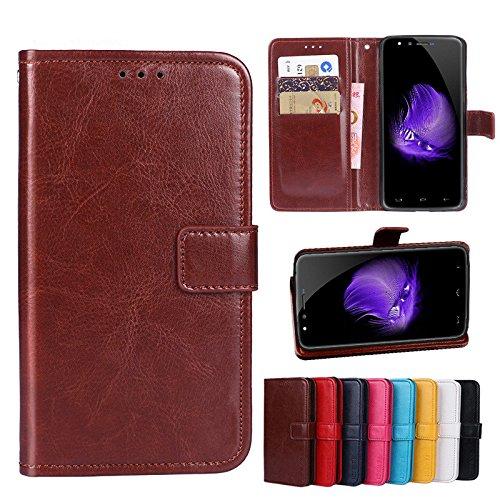 F&a® Flip Brieftasche Hülle für Homtom HT50 (Muster 8)