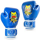 WIIDALSS Kids Boxing Gloves, Boxing Gloves for Kids 5-12, Youth Boxing Gloves for Punching Bag Kickboxing Muay Thai, Blue