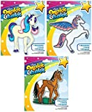 Suncatcher Kits - Unicorn, Pegasus, Horse - by Makit & Bakit / Colorbok - stained glass art project for kids - Boys, girls, and children - Bundle of 3