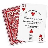 Gift Base Personalizado Cartas Invitaciones Cumpleaños Fiesta Casino Tema 18th 21st 30th 40th 50th 60th 70th