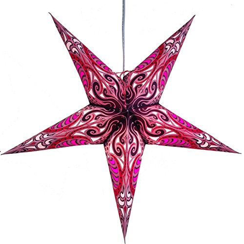Lavender Pink Obsession Paper Star Lantern with 12 Foot Power Cord Included