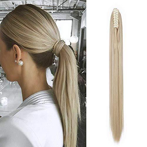 Pferdeschwanz Extensions Clip in Zopf Extensions Ponytail Haarteil Glatt Haarextensions günstig Haarverlängerung für Damen 26