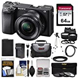 Sony Alpha A6400 4K Wi-Fi Digital Camera & 16-50mm Lens with 64GB Card + Battery + Charger + Case + Tripod + 2 Lens Kit