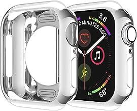 DGBAY Apple Watch Series 4 Funda, TPU Case Suave Protector de Pantalla Anti-Arañazos Ultra Delgado Carcasa Protectora para iWatch Series 4, Nike+, Hermès (40mm, Plata)