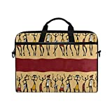 Laptop Sleeve Case,African Dancer Women 14-14.5 inch Briefcase Messenger Notebook Computer Bag