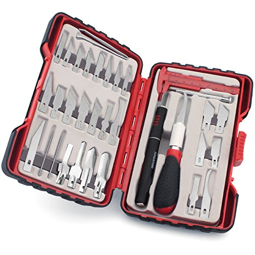 KRT452002 Set Bastelmesser Schnitzmesser Cutter für Modellbau Satz 36 teilig