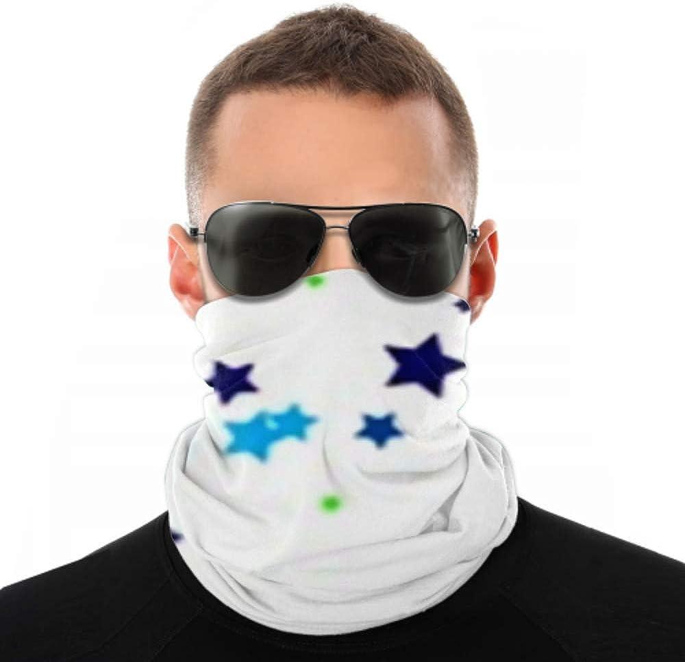 Headbands For Men Women Neck Gaiter, Face Mask, Headband, Scarf Blue Stars Sky Tiny Texture Symbol Turban Multi Scarf Double Sided Print Headband For Women For Sport Outdoor