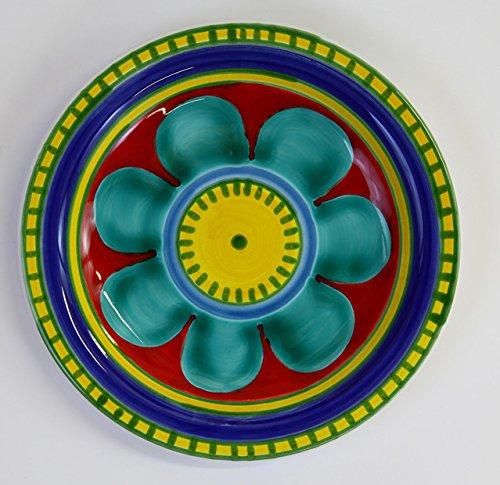 Ceramiche De Simone Piatto mangiallegro -Decoro Vulcano