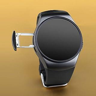 リモートテイクピクチャー240 * 240ピクセルスマートウォッチフォンキングウェアKW18 Sim&TFカードハートレートスマートウォッチ-ブラック
