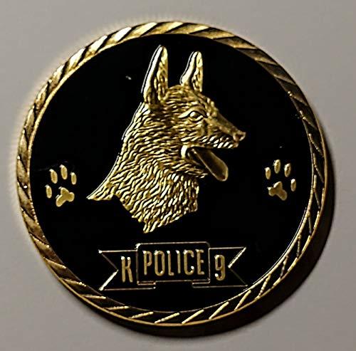K-9 Handler Police Colorized Art Coin