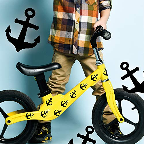 Wandtattoo Loft Fahrradaufkleber 35 STK. Anker Schwarz Maritim Junge Fahrrad Sticker Fahrraddesign Kinderfahrrad