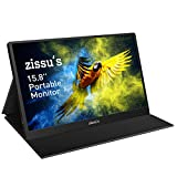 "Zissu's 15.8"" Portable Monitor with Cover- Full HD 1080P HDR IPS Screen with 178° Full View,..."