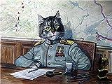 Cat Commanders Kit Gemälde Ölgemälde von Ihnen selbst gemacht, Leinwand Ölgemälde (Holzrahmen...