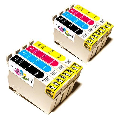 8X Epson Stylus SX410 Kompatible Druckerpatronen - Cyan/Gelb/Magenta/Schwarz- PATRONEN MIT NEUESTEN CHIP