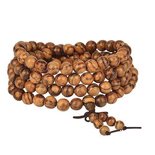 anzhongli mala Beads Bracelet 108 8mm Beaded Bracelet Sandalwood Elastic