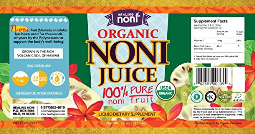 Certified Organic Hawaiian Noni Juice - 2 X 32 Ounce in Plastic |