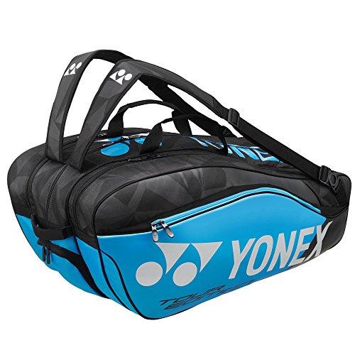 Yonex Thermobag 9829 Schlägertasche mit 3 Hauptfächern für Badminton, Tennis und Squash (blau)