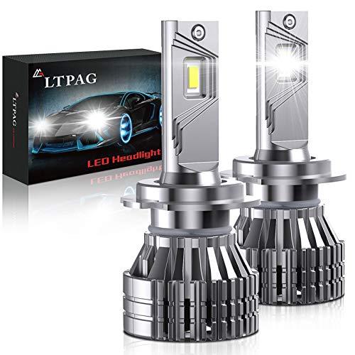 H7 LED Lampadine per Auto, LTPAG 100W Lampadine H7 LED 16000LM Kit Lampada Sostituzione per Alogena Lampade e Xenon Luci, CSP Chips Fari Abbaglianti e Anabbaglianti per Auto, 12V-24V 6000K Bianco
