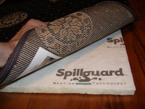 Carpenter, 8'x10', 1/2' Visco- Elastic Memory Foam, Spillguard DuPont Barrier Rug Pad
