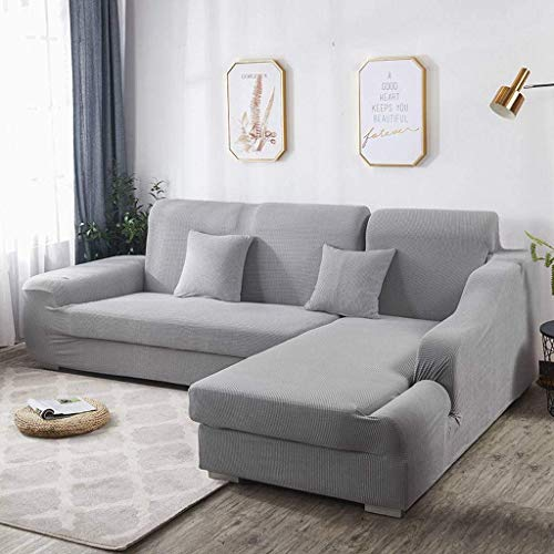 Jonist Funda de sofá con Fuerza elástica Todo Incluido, Protector de Muebles Grueso Antideslizante de Franela, fácil Cuidado, Lavable, código CS 90 u2010140cm