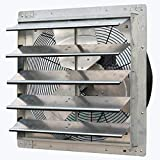 """iLIVING ILG8SF20V Wall Mounted Exhaust Fan, 20"""" - Variable, Silver"""
