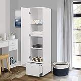 Kings Brand Furniture - Corry Wardrobe Armoire Closet, Tall Storage Cabinet, White