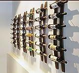 Linex Étagère à vin murale | Étagère à vin en bois pour 6 bouteilles Porte-bouteilles de vin en bois, étagère à vin murale pour la maison, étagère à vin