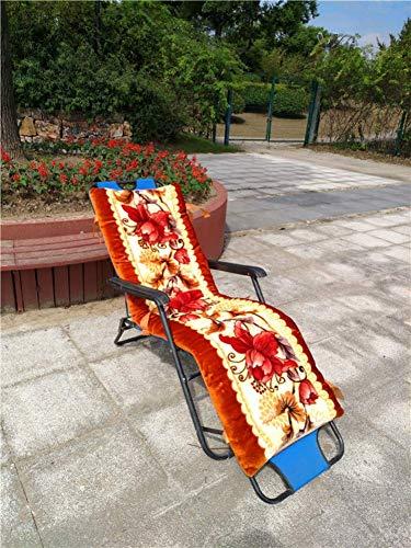 ZGYQGOO Coussin Chaise Longue extérieur, Coussins Chaise Patio, Coussins Chaise inclinables, Matelas transats pour Le canapé Jardin, Banc Voiture Tatami (Coussin Uniquement) -h 48x145cm (19x57inch)