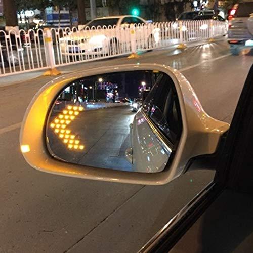 lilili Espejo De ala Azul De Cristal Climatizada Gran Angular Deslumbramiento LED Prueba Girar Q3 Lámpara De Señal For Audi A3 A4 A5 A6 Avant A8 Cubierta de retrovisor Lateral