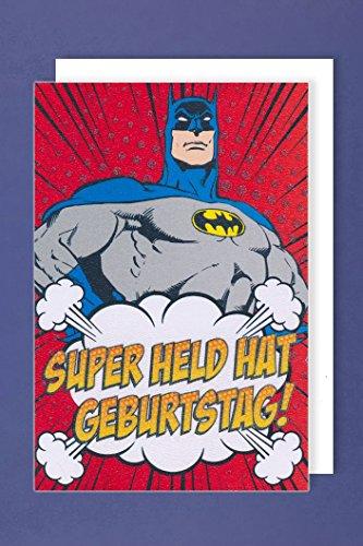 Superheld Karte Geburtstag Grußkarte Comic 16x11cm