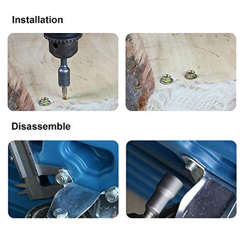 Lehom 8PCS Power Magnetic Screwdriver Nut Driver Set Impact 1/4