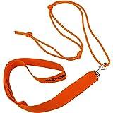 K&S Wildkameras Wildbergehilfe 2-teilig mit Spezialseil Bergegurt Bergehilfe Ziehgurt für Wild Zuglast bis 180kg Signal-Orange (Orange, 2-teilig)