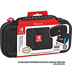 cheap Officially Approved Nintendo Switch Carrying Case-Deluxe Protective Travel Case-Black…