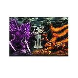 Naruto Vs Sasuke Final Clash Poster, dekoratives Gemälde,