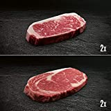 Morgan Ranch US Black Angus Ribeye & Striploin Steak Paket - 2x jeweils Entrecôte und Roastbeef