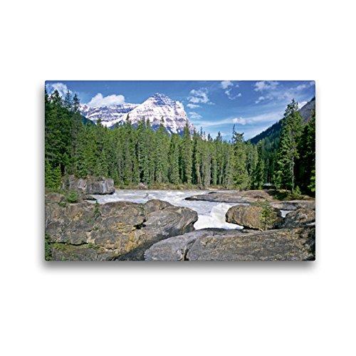 Premium textiel canvas 45 cm x 30 cm dwars De Kicking Horse River, Canada | Muurschildering op spieraam, afgewerkt beeld op echt canvas. Britse Columbia, Canada (CALVENDO Orte);CALVENDO plaatsen