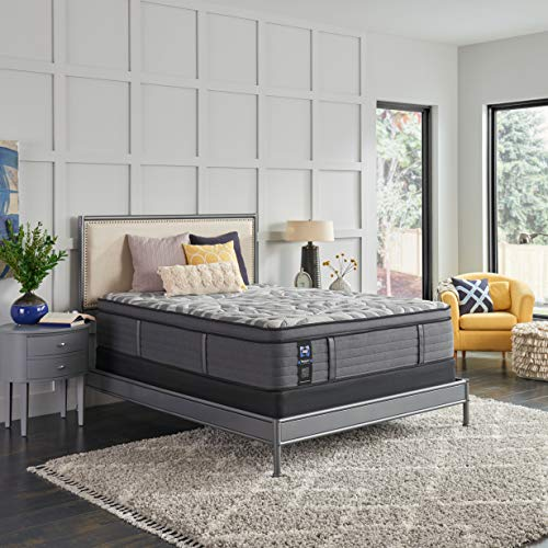 Sealy Posturepedic Plus, Euro Pillow Top 14-Inch Medium Mattress with Surface-Guard, Queen, Grey