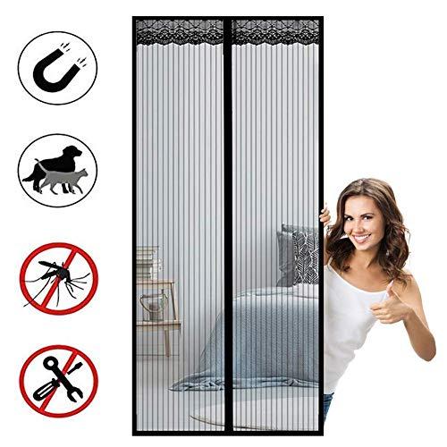 MXA hordeur, vliegengaas, insectenbescherming, voorkomt het binnendringen van muggen, magnetisch net, automatische sluiting, zwart