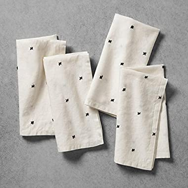 Hearth and Hand with Magnolia Napkins Cream with X Pattern Set of 4