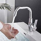 bonade rubinetto bagno cucina girevole a 360° miscelatore monocomando per lavabo bagno cucina, rubinetti bagno cucina in ottone, acqua calda e fredda, cromato