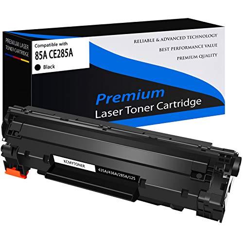 KCMYTONER Compatible Toner Cartridge Replacement for HP CE285A 85A Work with Laserjet Pro P1102 P1102W P1109W P1106w Laserjet Pro MFP M1217NFW M1212NF M1132 M1138 M1214NFH M1216NFH - Black, 1 Pack