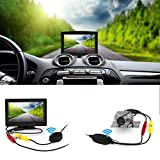 Wireless Backup Camera and Monitor Kit,Wide Angel HD Night Vision Waterproof Rear View Camera Parking Assistance System with 5 inch LCD Screen 12V