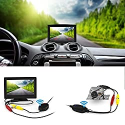 System zur Einparkhilfe, Wireless-Backup-Kamera und Monitor-Set, 170-Grad-Weitwinkel, HD-Nachtsicht, wasserdicht, mit 5-Zoll-LCD-Display (12,7 cm)
